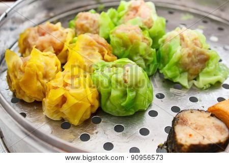 Chinese Food Appetizer, Mixed Dim Sum.