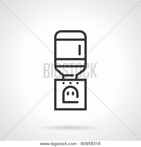 Line vector icon for water cooler