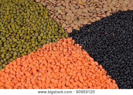 Mixture Of Dried Lentils And Beans
