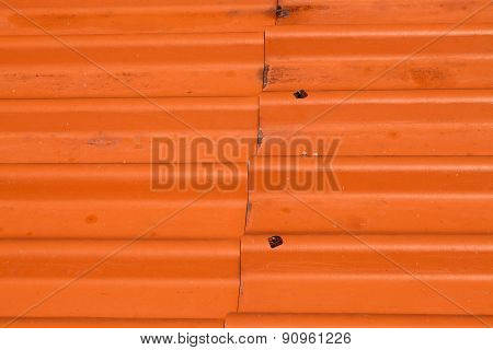Orange tiles roof background. Top view.