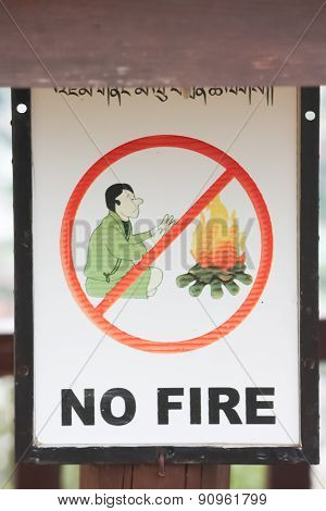 Signs warning of forest fires