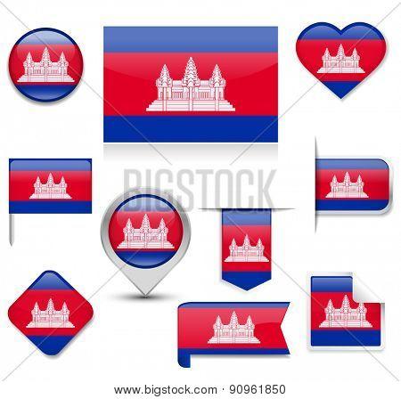 Cambodia Flag Collection