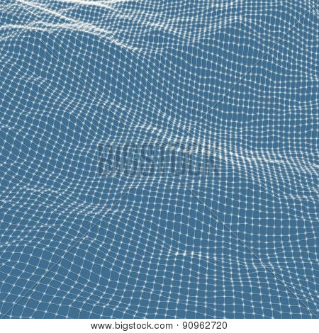 Abstract grid background. Water surface. Vector illustration. Can be used for wallpaper, web page background, web banners.