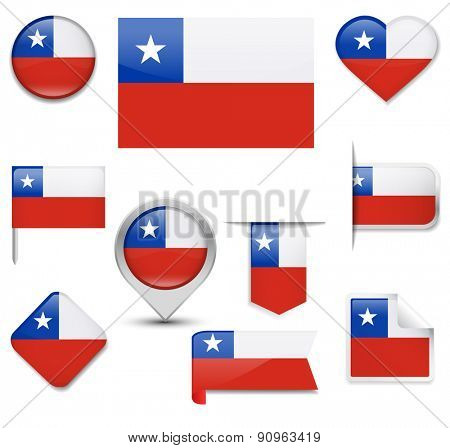 Chile Flag Collection
