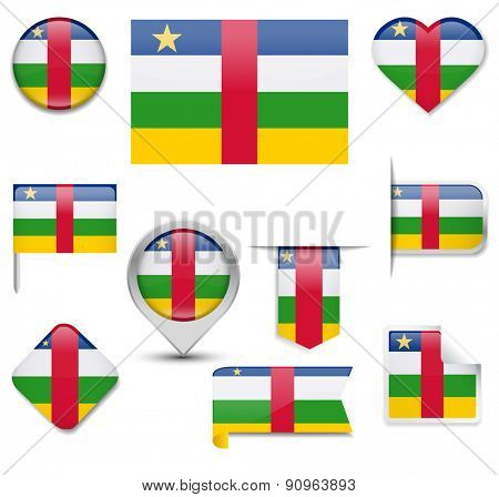 Central African Republic Flag Collection