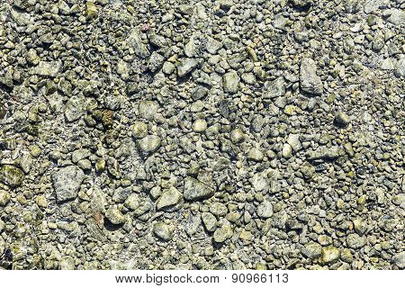Beautiful Stones In A River Bed