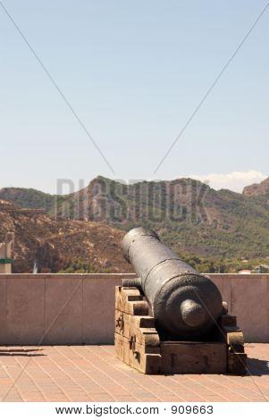 Gun In The City Castle  Of Cartagena