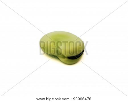 Fresh broad bean isolated on white background