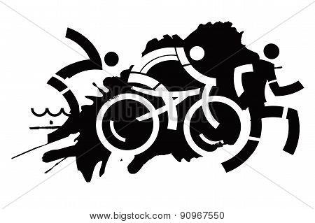 Biathlon Grunge Icons