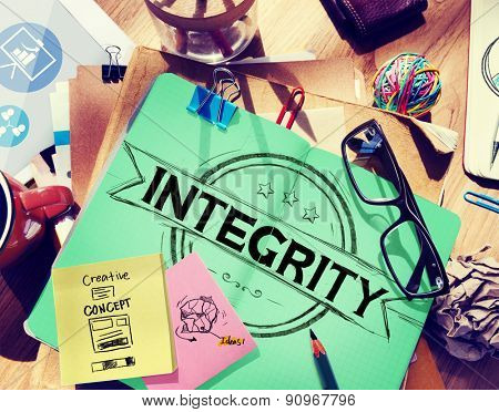 Integrity Attitude Belief Fairness Trustable Concept