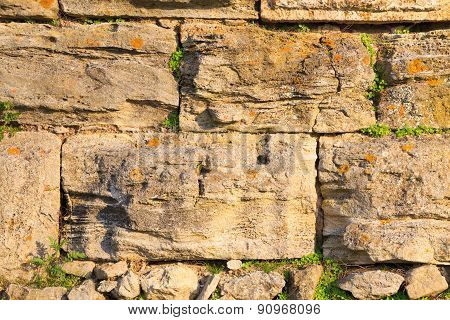 Medieval Wall From An Ancient Fortress