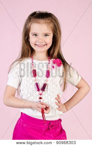 Adorable Happy Little Girl