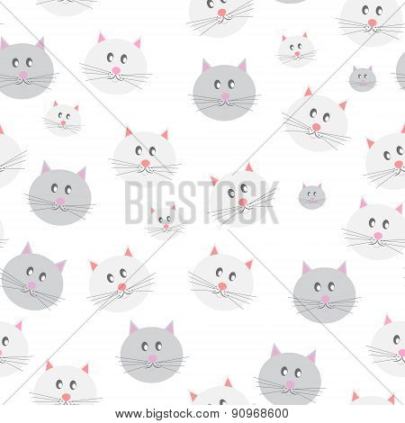 Cat Seamless Pattern Background Vector Illustration