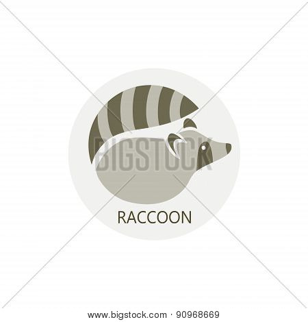 Stylized silhouette of a raccoon