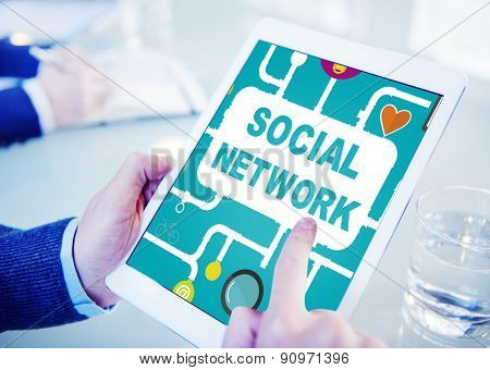 Social Network Internet Online Society Connecting Social Media Concept