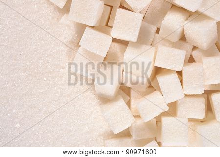 White Granulated And Refined Sugar Texture