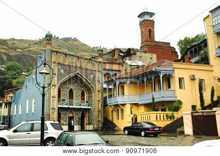 Architecture Of The Old Town Of Tbilisi In Abanotubani Area, Georgia