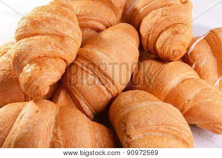 Delicious croissants close-up