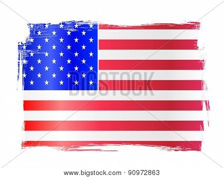 Grungy American Flag