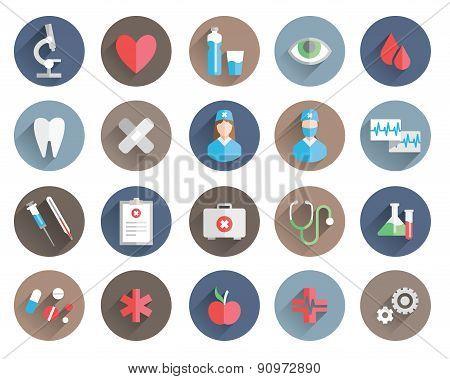 medicine icons vector set