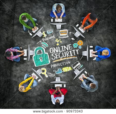 Online Security Protection Internet Safety Online Technology Concept