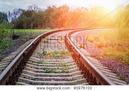 Old Railway In Countryside