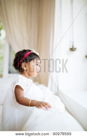 Adorable little Indian girl