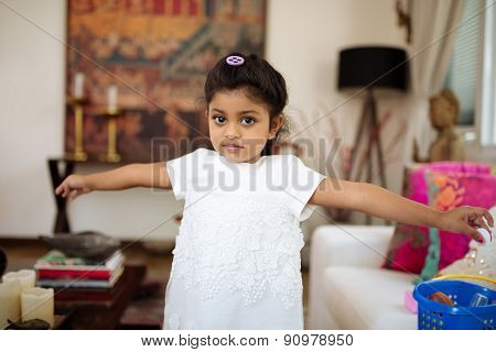 Little Indian girl