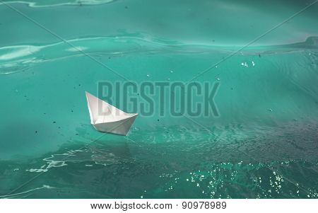 Paper Boat On The Waves