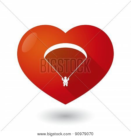 Heart Icon With A Paraglider