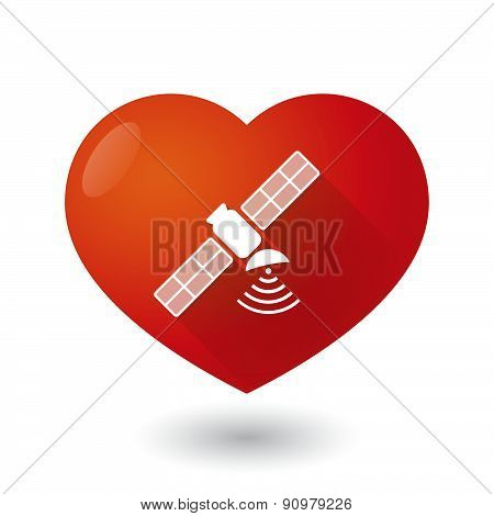 Heart Icon With A Satellite
