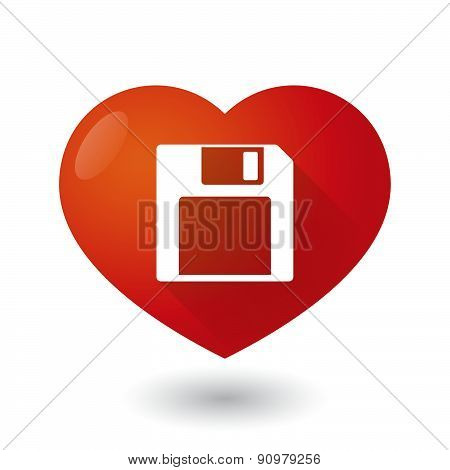 Heart Icon With A Disk