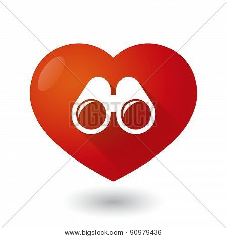 Heart Icon With A Binoculars