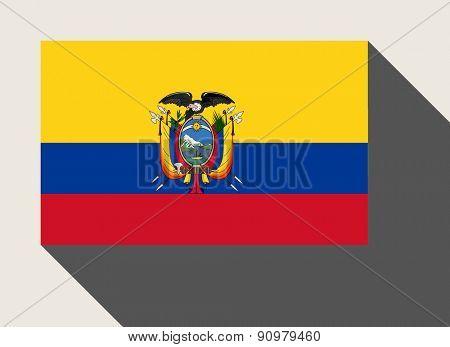 Ecuador flag in flat web design style.
