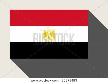 Egypt flag in flat web design style.