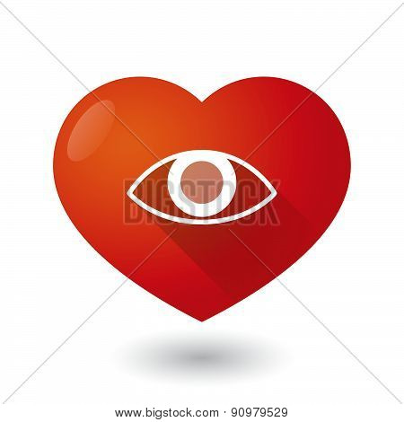 Heart Icon With An Eye