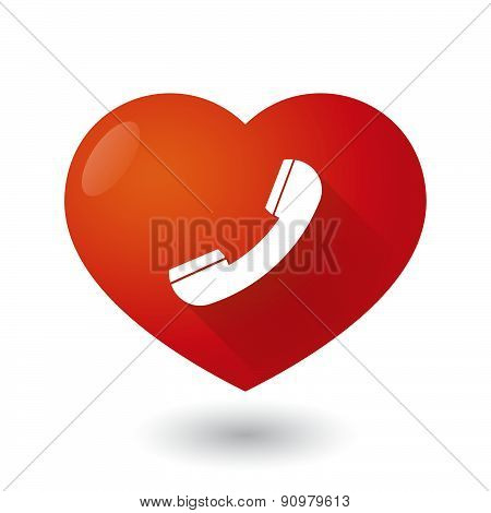 Heart Icon With A Phone