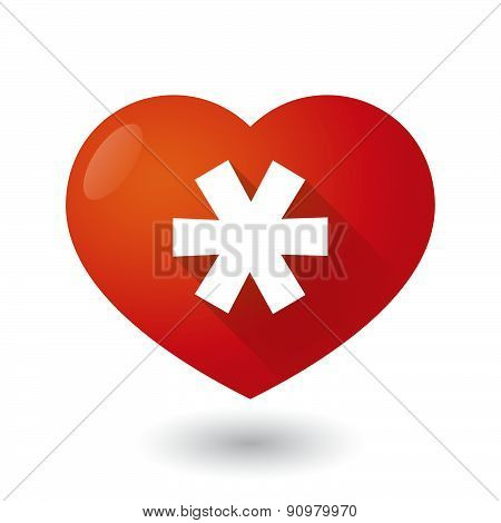 Heart Icon With An Asterisk