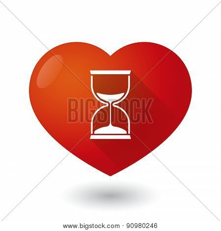 Heart Icon With A Sand Clock