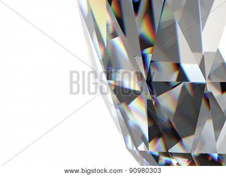 Background of jewelry gemstone.Diamond
