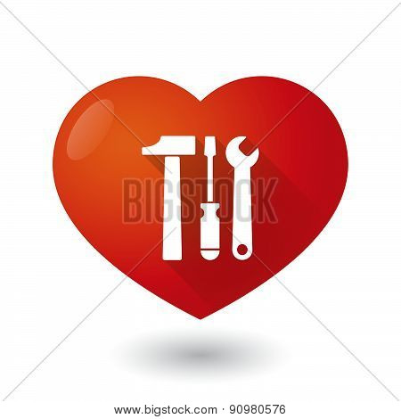 Heart Icon With A Tool Set