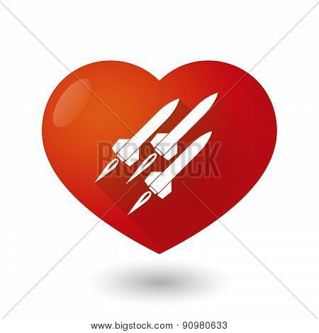 Heart Icon With Missiles