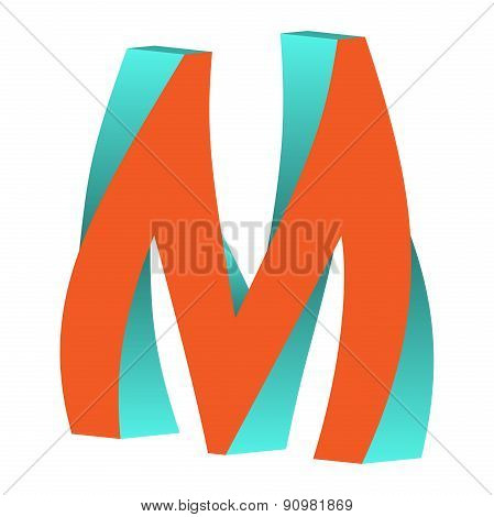 Twisted Letter M Logo Icon Design Template Element