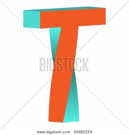 Twisted Letter T Logo Icon Design Template Element