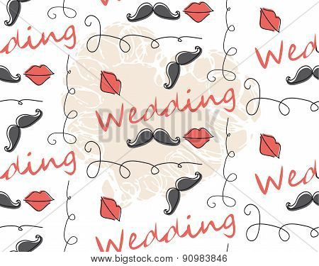 Vector Seamless Pattern Background for wedding