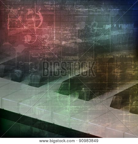 Abstract Grunge Background With Piano