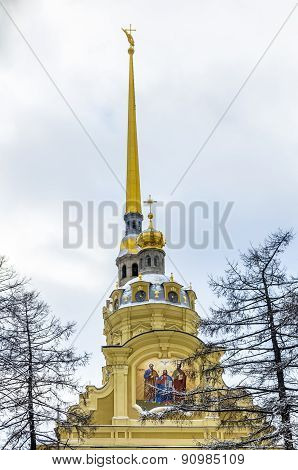 View On Peter And Paul Cathedral At Winter