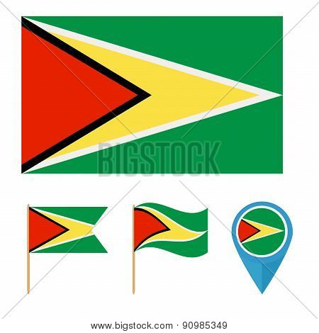 Guyana,country flag