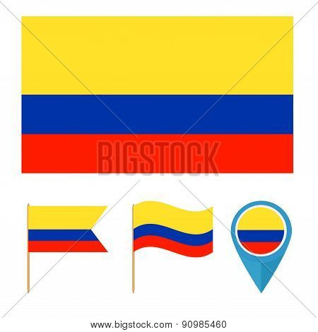 Colombia, country flag