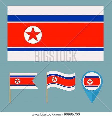 North Korea,country flag